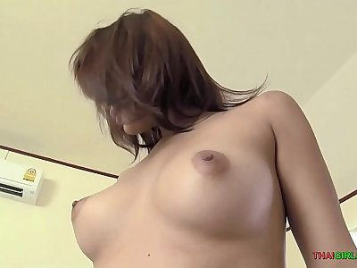 Thai girl with braces and nice booty fucks raw dog