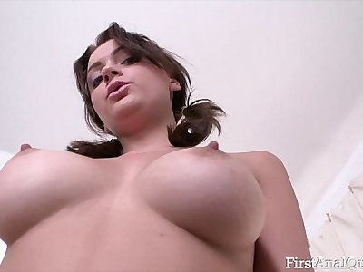 Teens First Anal Fucking Leaves Her Asshole Gaping Open